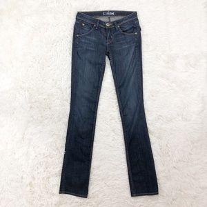 Hudson straight leg low rise jeans size 24